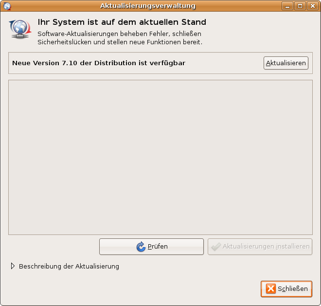 Neue Linux ubuntu Version